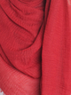 Cherry Red Plain Crinkle Maxi Hijab - Hijab Store Online