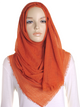 Copper Plain Crinkle Maxi Hijab