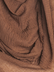 Light Brown Plain Crinkle Maxi Hijab - Hijab Store Online