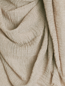 Light Khaki Plain Crinkle Maxi Hijab
