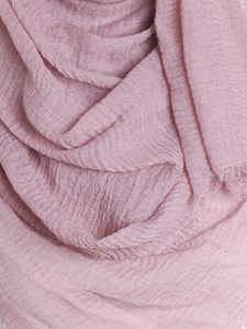 Light Mauve Plain Crinkle Maxi Hijab