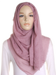 Spanish Rose Plain Crinkle Maxi Hijab