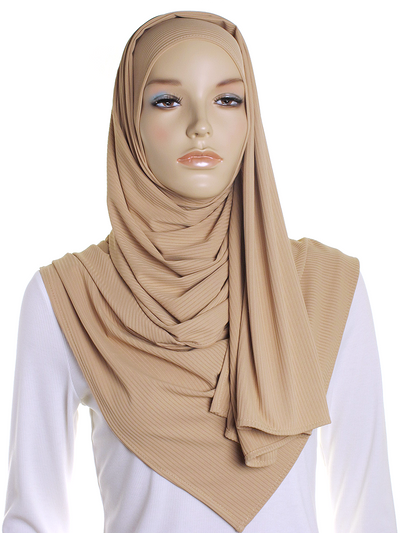 Buttermilk Ribbed Jersey Hijab