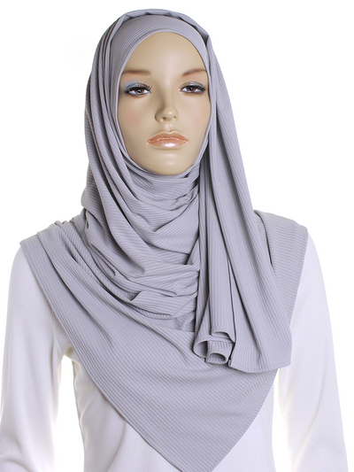 Fossil Ribbed Jersey Hijab