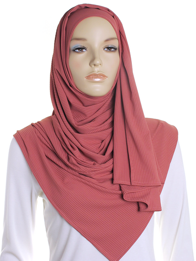 Honeysuckle Ribbed Jersey Hijab