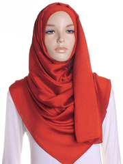 Barn Red Shimmer Hijab - Hijab Store Online