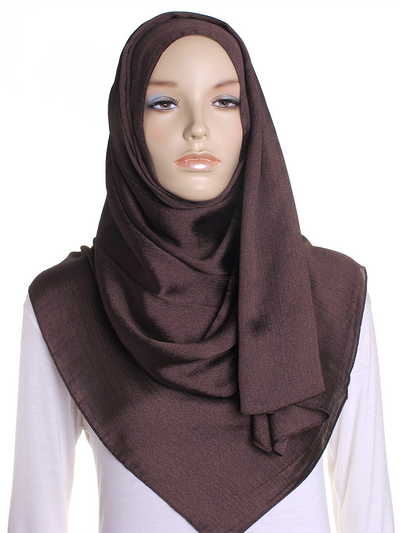Brown Shimmer Hijab - Hijab Store Online