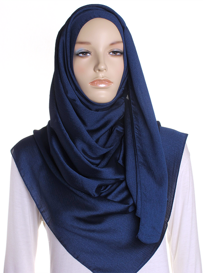 Navy Shimmer Hijab - Hijab Store Online