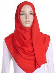 Red Shimmer Hijab - Hijab Store Online