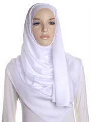 White Shimmer Hijab - Hijab Store Online