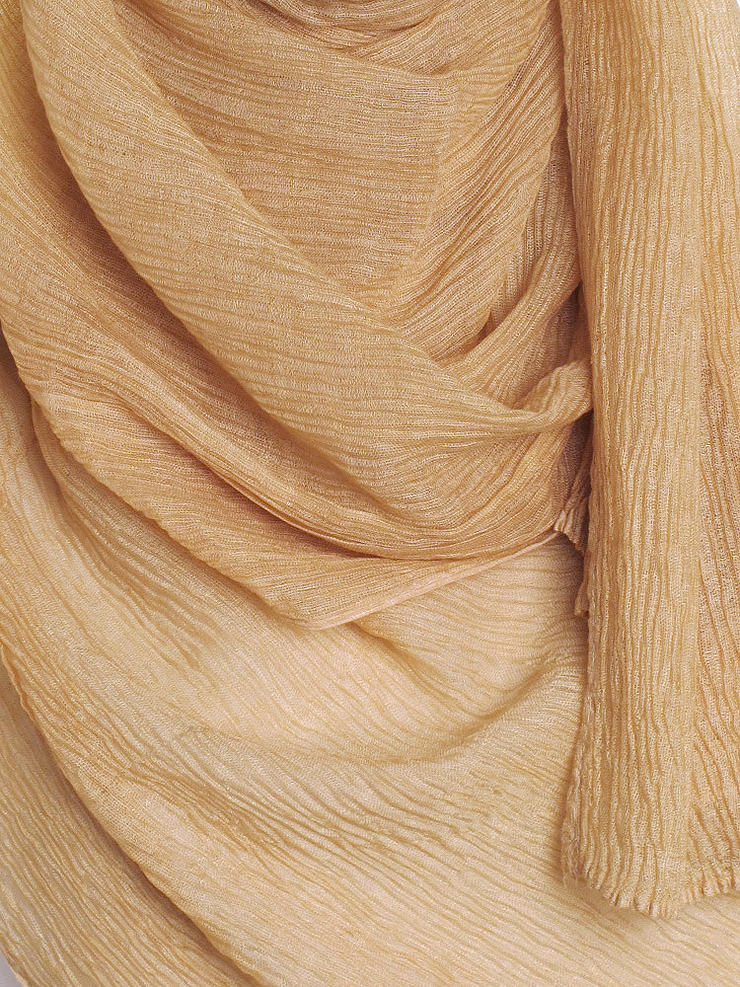 Autumn Gold Straight Pleated Hijab