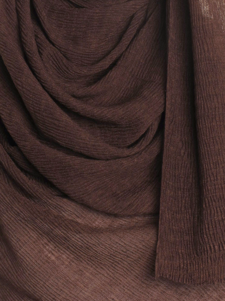 Brown Straight Pleated Hijab - Hijab Store Online