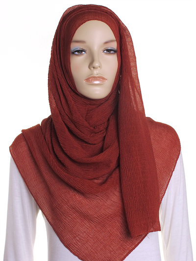 Copper Straight Pleated Hijab - Hijab Store Online