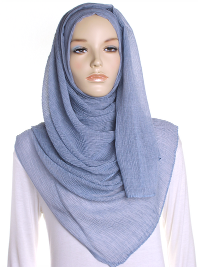 Flint Grey Straight Pleated Hijab