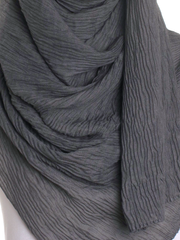 Grey Straight Pleated Hijab - Hijab Store Online