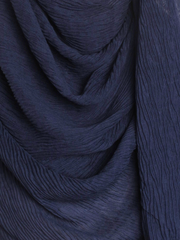 Navy Straight Pleated Hijab - Hijab Store Online