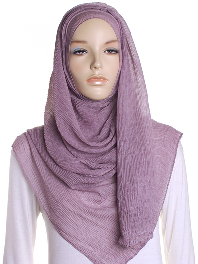 Pale Orchid Straight Pleated Hijab - Hijab Store Online
