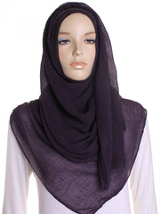 Purple Straight Pleated Hijab - Hijab Store Online