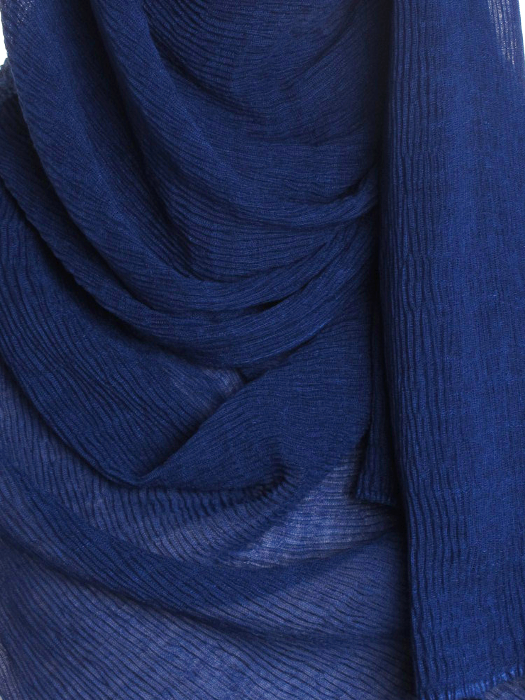 Royal Blue Straight Pleated Hijab - Hijab Store Online