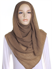 Sugar Brown Straight Pleated Hijab