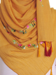 Dark Mustard Cotton Tassel Hijab