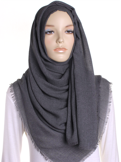 Charcoal Large Luxury Hijab - Hijab Store Online