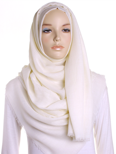 Cream Large Luxury Hijab - Hijab Store Online