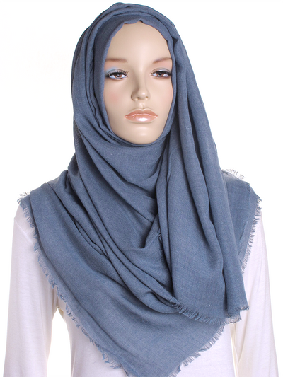 Denim Blue Large Luxury Hijab - Hijab Store Online