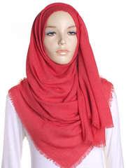 Red Large Luxury Hijab - Hijab Store Online