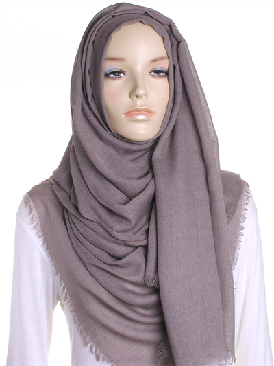 Taupe Large Luxury Hijab - Hijab Store Online