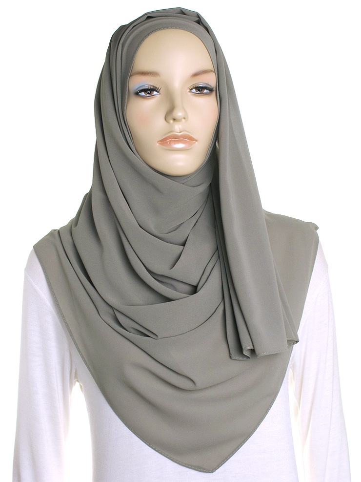 Light Khaki Chiffon Hijab