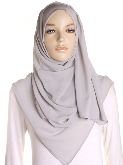 Light Silver Chiffon Hijab