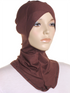 Brown Criss Cross Ninja Underscarf