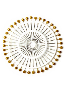 Gold Pearl Heads Pin Wheel