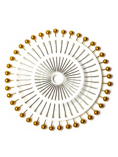 Gold Pearl Heads Pin Wheel - Hijab Store Online