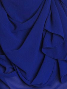 Royal Blue Chiffon Hijab