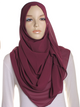 Royal Cranberry Chiffon Hijab