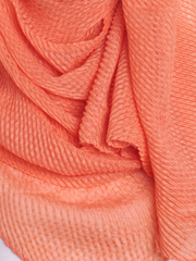 Apricot Pleated Crinkle Hijab - Hijab Store Online