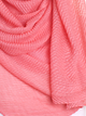 Coral Pleated Crinkle Hijab