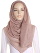 Fairytale Beige Pleated Crinkle Hijab