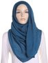 Marine Blue Pleated Crinkle Hijab