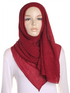 Maroon Pleated Crinkle Hijab