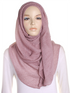 Mauve Pleated Crinkle Hijab