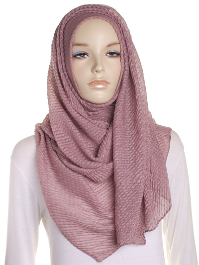 Rose Pleated Crinkle Hijab