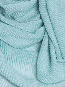 Teal Pleated Crinkle Hijab