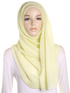 Vanilla Cream Pleated Crinkle Hijab