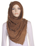 Chestnut Pearl Beaded Crinkle Hijab