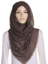 Chocolate Pearl Beaded Crinkle Hijab