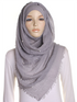 Cloud Grey Pearl Beaded Crinkle Hijab