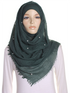 Emerald Pearl Beaded Crinkle Hijab
